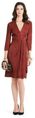 Diane von Furstenberg Connie Suede Wrap Dress