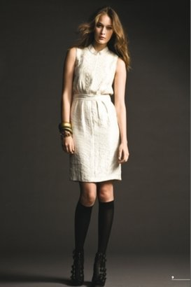Twelfth Street Cynthia Vincent Kirin Vintage Embroidered Dress Ivory $338 thestylecure.com