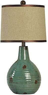 JCPenney Turquoise Ceramic Table Lamp