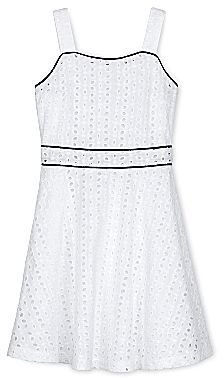 JCPenney Dreampop® by Cynthia R. Fit & Flare Eyelet Dress - Girls 7-16