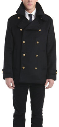 Simon Spurr Peacoat with Gold Military Buttons