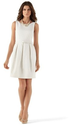 White House Black Market Geo Textured Tulip-Skirt Dress