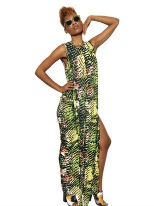 Kenzo Printed Viscose Jersey Long Dress