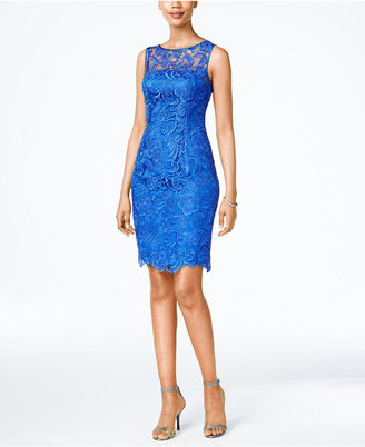 Adrianna Papell Lace Sheath Dress $179 thestylecure.com