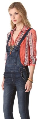 Free People Washed Cord Overalls