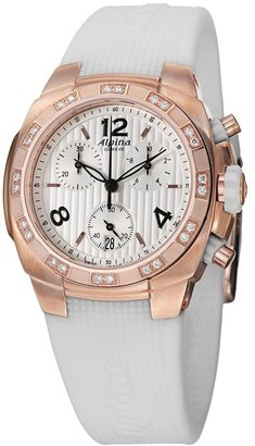 Alpina Avalanche Extreme Silver Dial White Rubber Ladies Watch