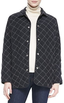 Go Silk Quilted Silk Barn Jacket, Petite $395 thestylecure.com