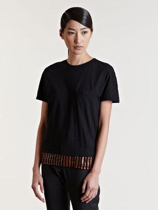 Toga Women's Striped Panel T-Shirt