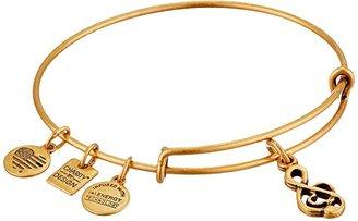Alex and Ani Sweet Melody Charm Bangle (Rafaelian Gold Finish) Bracelet