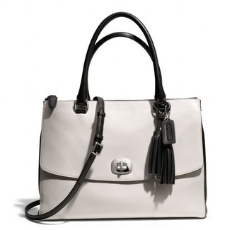 Coach Legacy Large Harper Satchel In Two Tone Leather