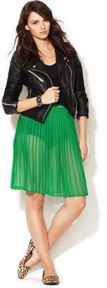 American Apparel Woven Chiffon Pleated Skirt