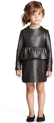 Milly Minis Toddler's & Little Girl's Metallic Peplum Dress