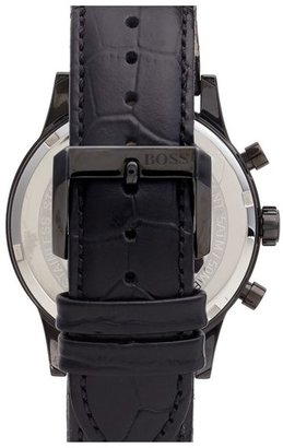 BOSS Chronograph Leather Strap Watch, 44mm