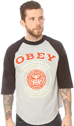 Obey The All City Champs 2 Raglan Tee