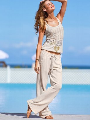 Victoria's Secret Supermodel Essentials French Terry Stripe Boyfriend Pant