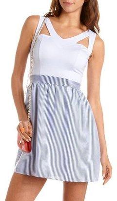 Charlotte Russe Cutout 2-Fer A-Line Dress
