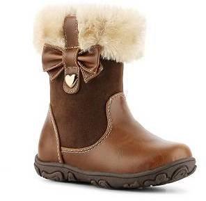 Laura Ashley Fur Cuff Girls Infant & Toddler Boot