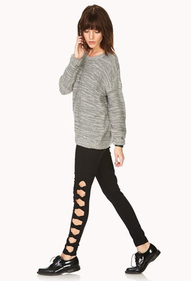 Forever 21 bold bow skinny jeans