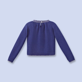 Jacadi Fancy Lurex trimmed sweater