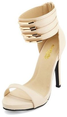 Charlotte Russe Gold Plated Ankle Cuff Heels