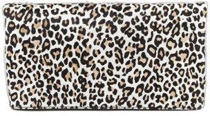 Alice + Olivia Cheetah Me Calf Hair Fold-Over Clutch Bag, Fawn