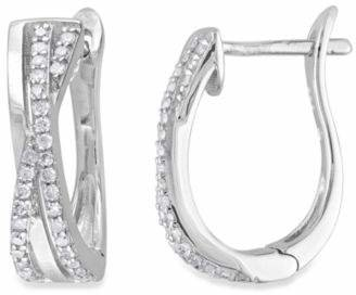 Sterling Silver 1/4 cttw Diamond Hoop Earrings $184.99 thestylecure.com