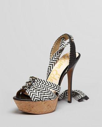 Sam Edelman Peep Toe Platform Sandals - Mela High Heel