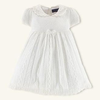 Ralph Lauren Pointelle-Knit Cashmere Dress