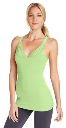 Pink Lotus Women's Racer Back Tank with Bra and Mesh Inserts