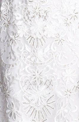 Sue Wong Open Back Embroidered Lace Dress