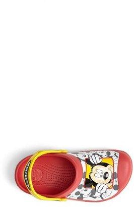 Crocs CROCSTM 'Mickey® Peek-a-Boo' Clog (Walker, Toddler & Little Kid)