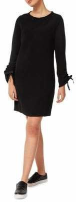Dex Long-Sleeve Crewneck Shift Dress