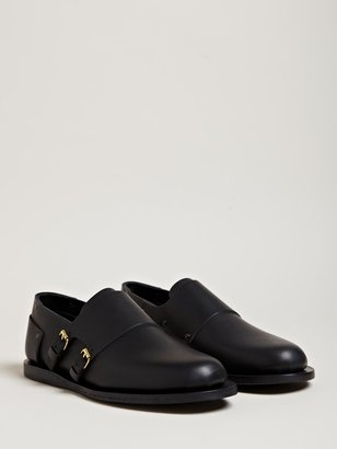Womens Riveted Monk Shoes
