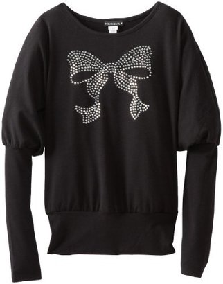 Kate Mack Girls 7-16 Bow Bling Top