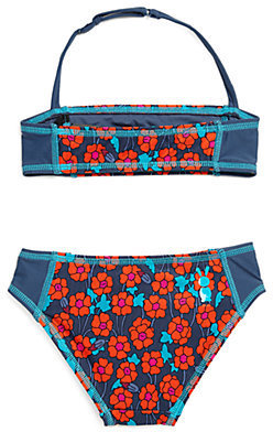 Little Marc Jacobs Toddler's & Little Girl's Two-Piece Maysie Floral Bandeau Bikini Set