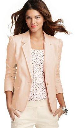 LOFT Pop Color Puff Sleeve Canvas Jacket