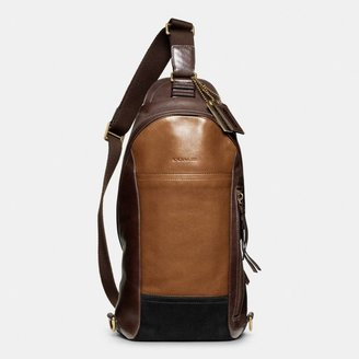 Coach Bleecker Convertible Sling Pack In Colorblock Leather