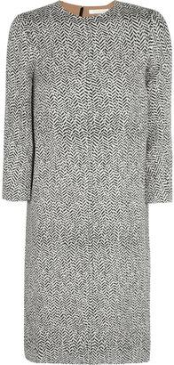 Chloé Printed silk and wool-blend dress