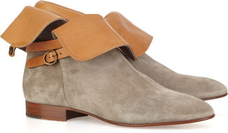 Chloé Suede and leather ankle boots