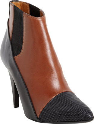 Balenciaga Ribbed Cap Toe Ankle Boot