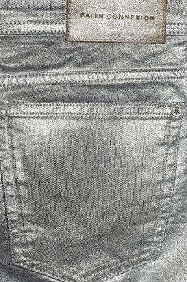 Faith Connexion Metallic-coated mid-rise skinny jeans