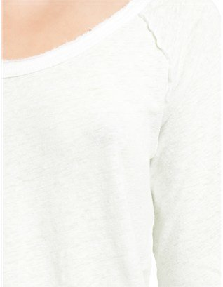 James Perse White Inside Out Raglan Tee