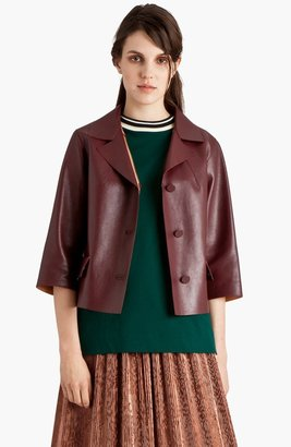 Marni Lambskin Leather Crop Jacket