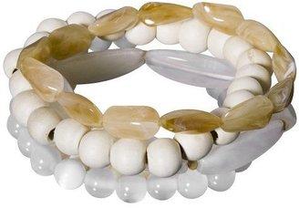 Xhilaration® Acrylic Beaded Bracelet 5-pc. Set - White