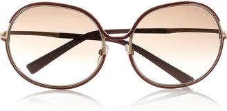 Tom Ford Alexandra round-frame metal sunglasses