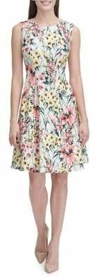 Tommy Hilfiger English Garden Scuba Crepe Fit Flare Dress