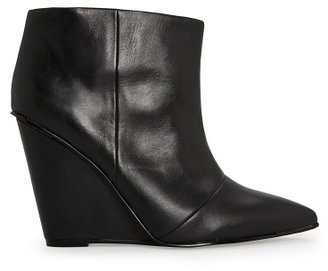 MANGO Outlet Wedge Leather Ankle Boots