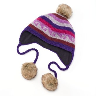 SIJJL Fleece Pom-Pom Wool Hat