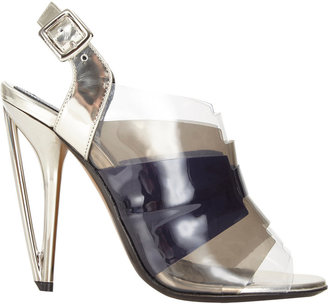 Fendi Iridia Layered Slingback Sandals