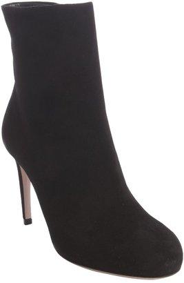 Gucci Black Suede Zipper Ankle Boots